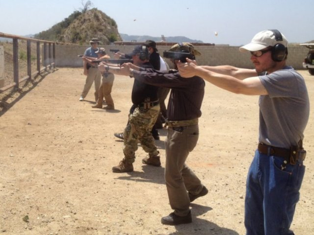 Defensive handgun training with